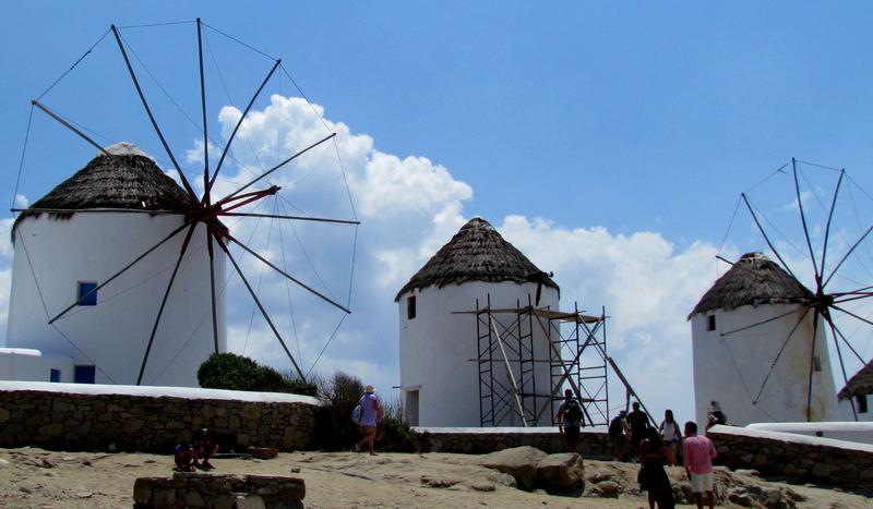 33 moulins de Mykonos