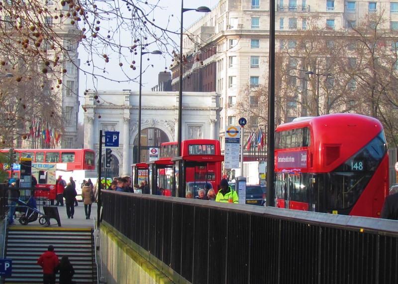 London Bus à Marble Arch
