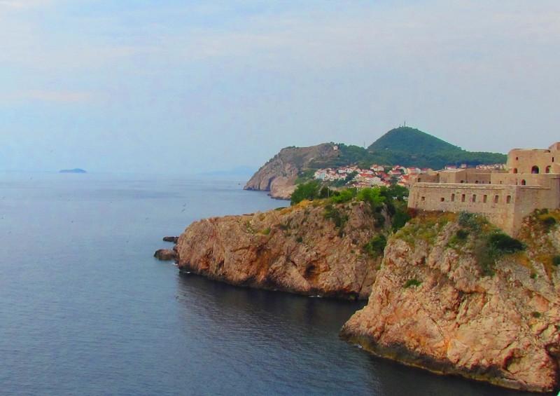 Dubrovnik la côte vers le nord