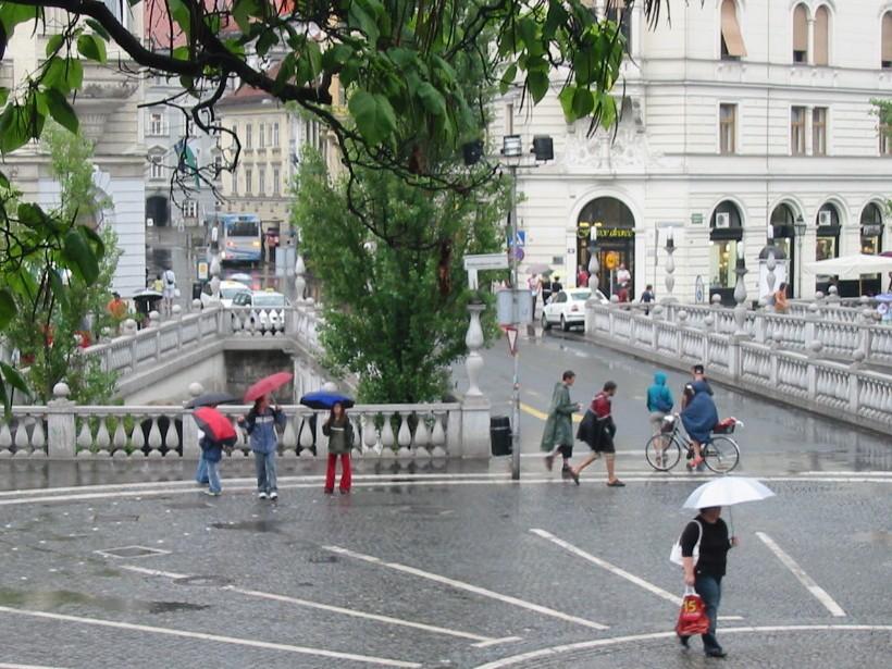 Slovénie Lubjana 3 ponts