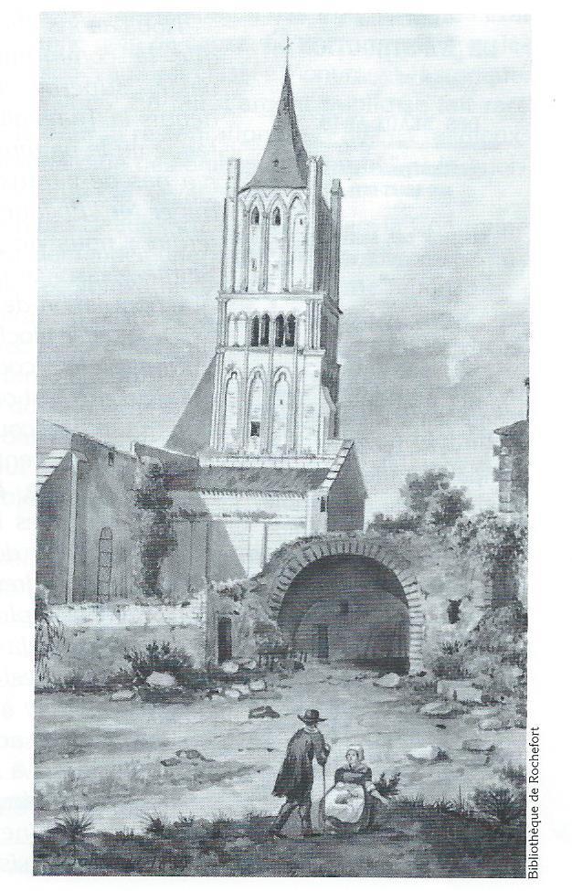 Aquarelle de Bourdeaux 1839
