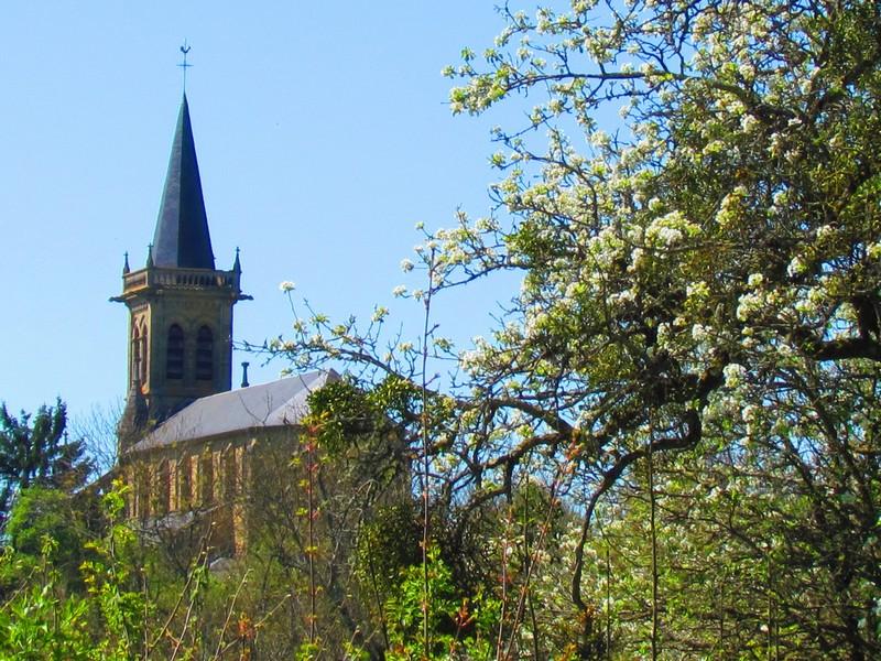 Bona église vue du bas