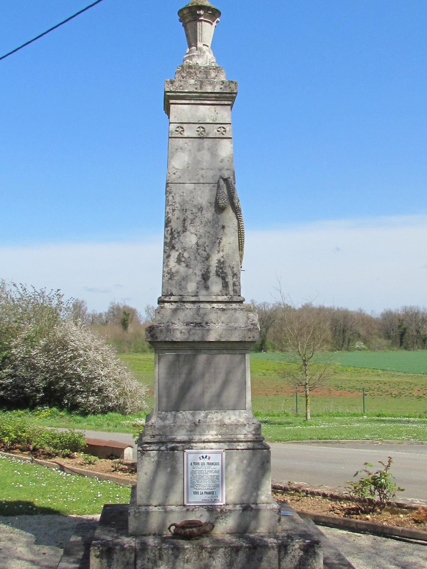 Maire monument aux morts