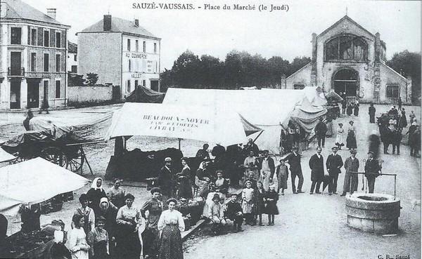 Marché de Sauzé en 1912