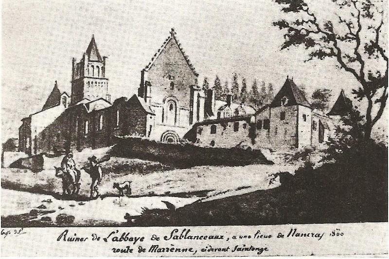 Sablonceaux gravure 1800